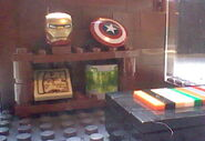 Comic store shelf