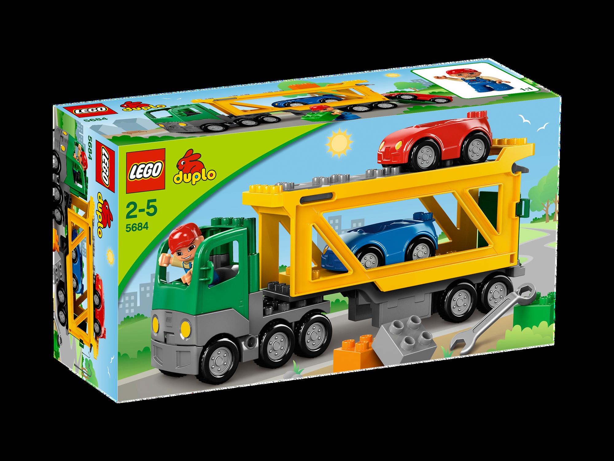 5684 Car Transporter Brickipedia Fandom Powered By Wikia Lego 5682 Duplo Fire Truck