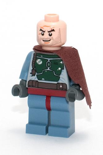 Lego Star Wars Light Bluish Gray Legs w// Reddish Brown Hips Boba Fett Ahsoka