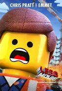 The LEGO Movie Poster Emmet