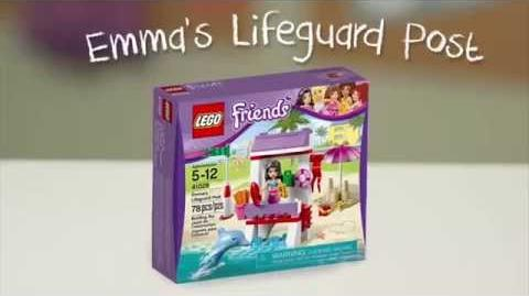 LEGO Building with Friends - Emma's Lifeguard Post Quick Build