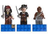 853191 Jack Sparrow, Hector Barbossa and Gunner Zombie Magnet Set