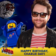 The LEGO Movie Bday Charlie Day