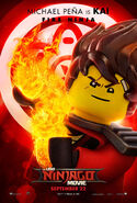 The LEGO Ninjago Movie Poster Kai 2