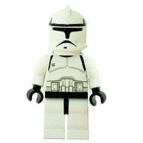 STAR WARS LEGO MINIFIGURE COMMANDER CODY+VISOR+BLASTER CLONE WAR GUNSHIP 7675@@@