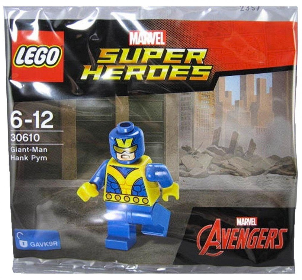 Hank Pym LEGO® Superheroes from set 30610 Giant Man minifig