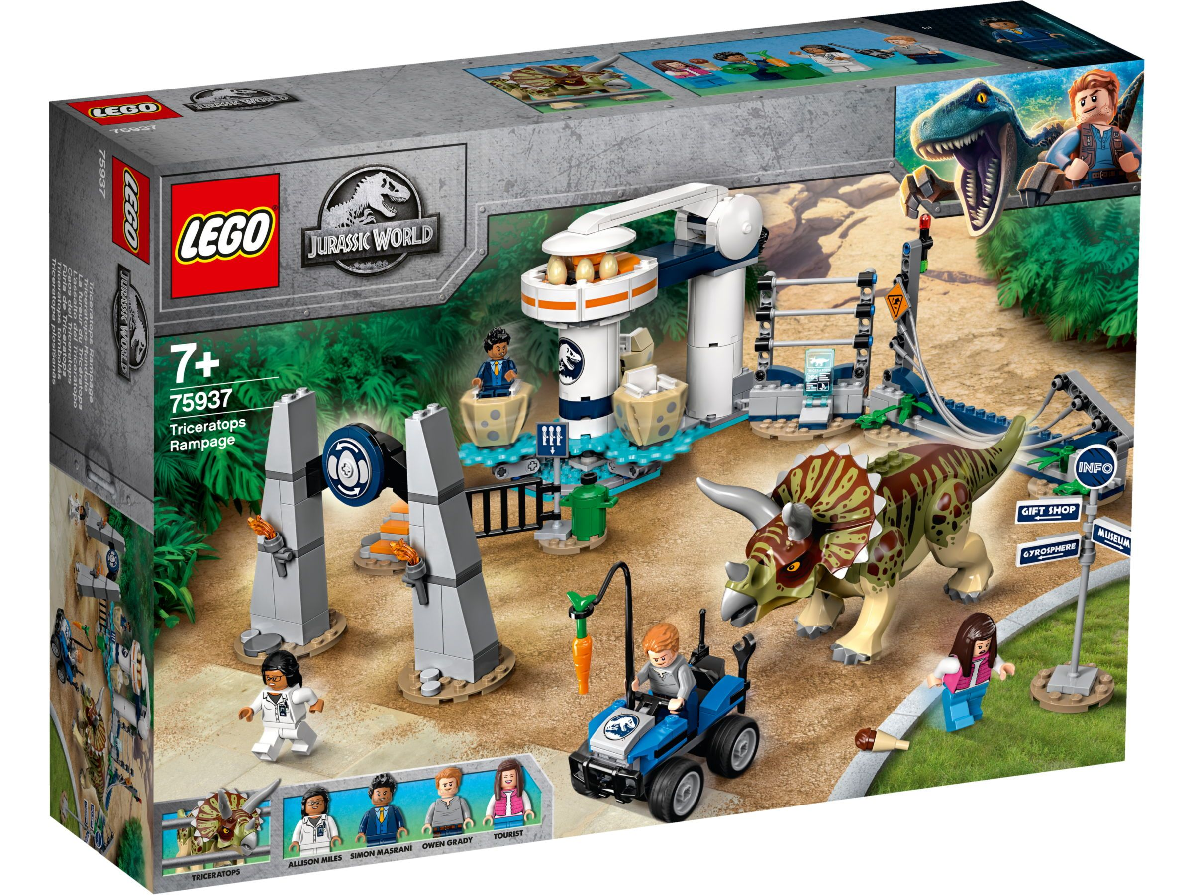 New Lego Jurassic World 2 Owen Grady Minifigure From Set 75930