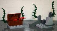 Brickmaster Atlantis Felsen und Schatz