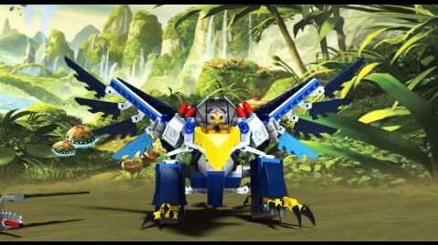 LEGO Chima 70003 - Erisina orlí stíhačka - animace