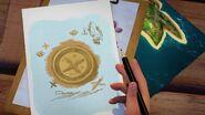 Médaillon dessin-L'île de Kate
