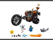 70834 Le tricycle motorisé en métal de Barbe d'Acier!