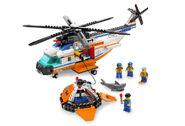 7738 L'hélicoptère et le canot de sauvetage des garde-côtes