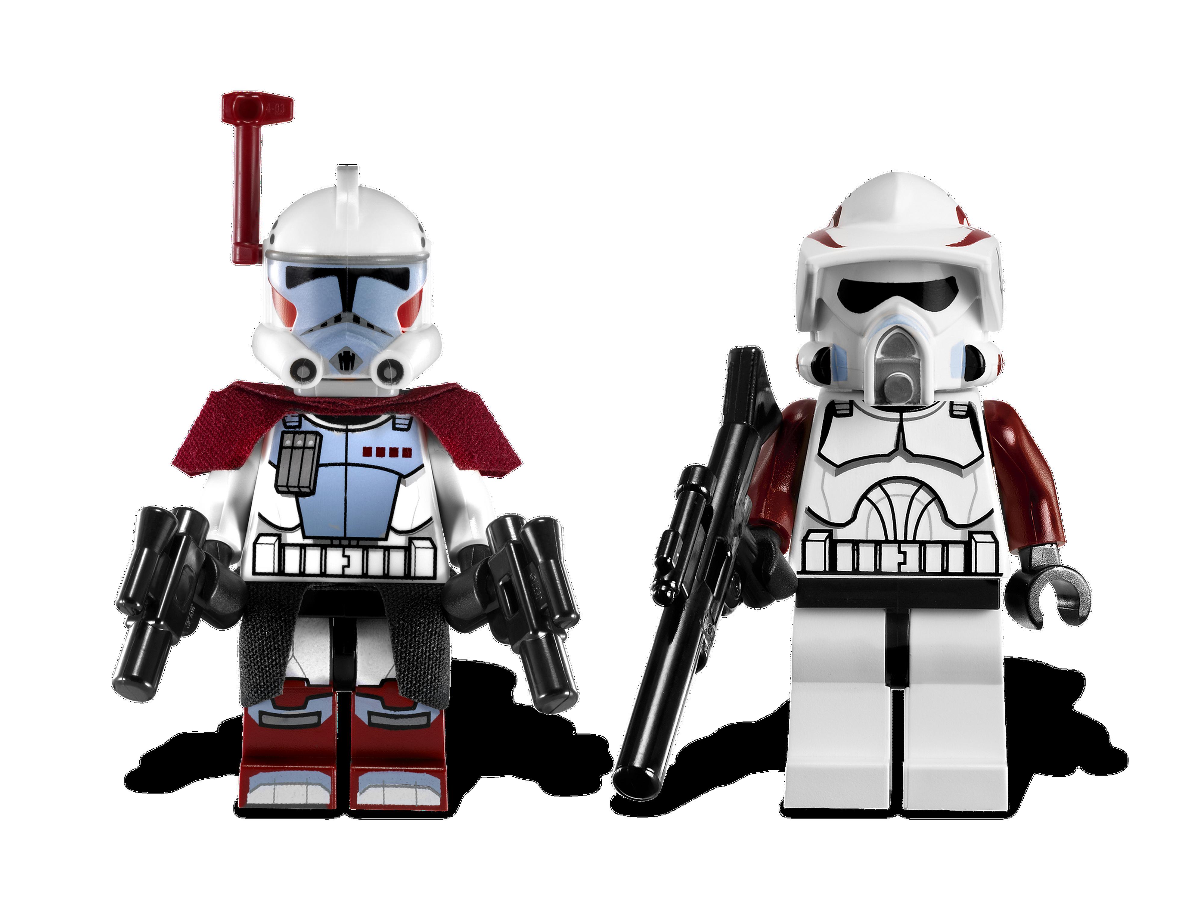 STAR WARS LEGO MINIFIGURE ARF CLONE TROOPER LOT+RIFLE SET 9488 7913 BATTLE PACK