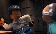 Lando speaks to Maz