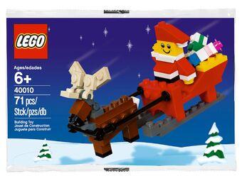 Mini Santa Set LEGO Seasonal Skiing, Surfboarding, Snowmobile Set 40022