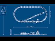 60198 Le train de marchandises télécommandé dimensions