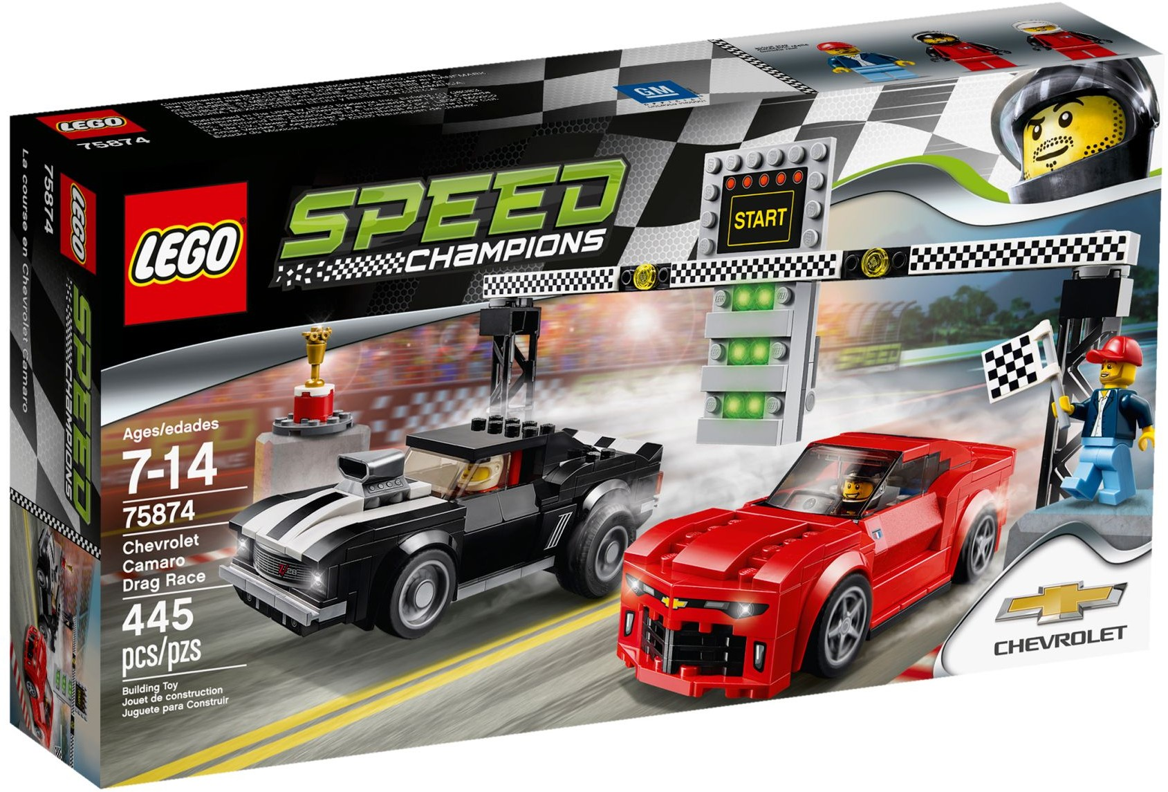 75874 Chevrolet Camaro Z28 Driver LEGO® Minifig Speed Champions sc028