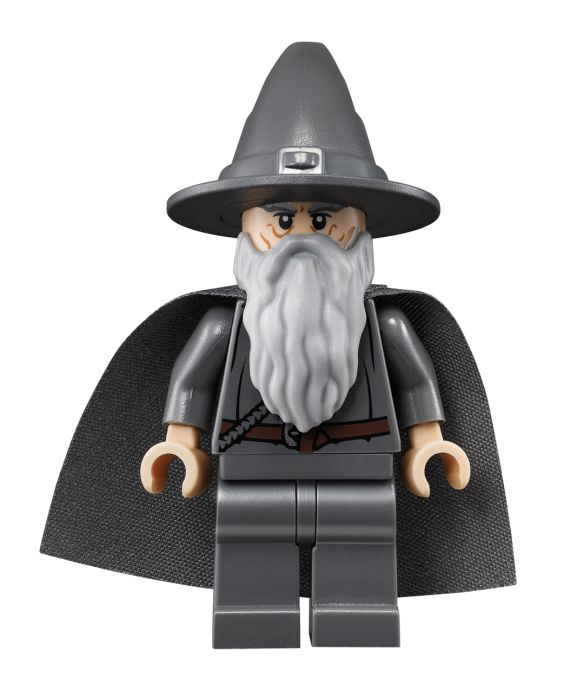 LEGO NEW GANDALF THE GREY MINIFIGURE HAT CAPE STAFF LORD OF THE RINGS LOTR