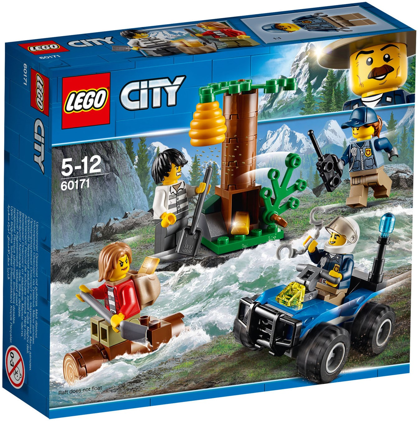 LEGO City Lot Of 2 Sets 60170 /& 60171 Offroad Chase /& Mountain Fugitives NEW