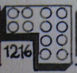 1216 4 x 4 Corner Bricks