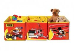 SD471red Connectable Toy Bins Red Fire