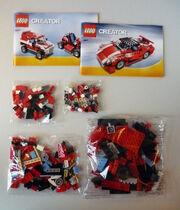 Roter Sportwagen 5867 Packungsinhalt