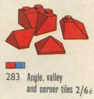283 Sloping Ridge and Valley Bricks