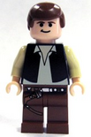 Han Solo light flesh brown legs