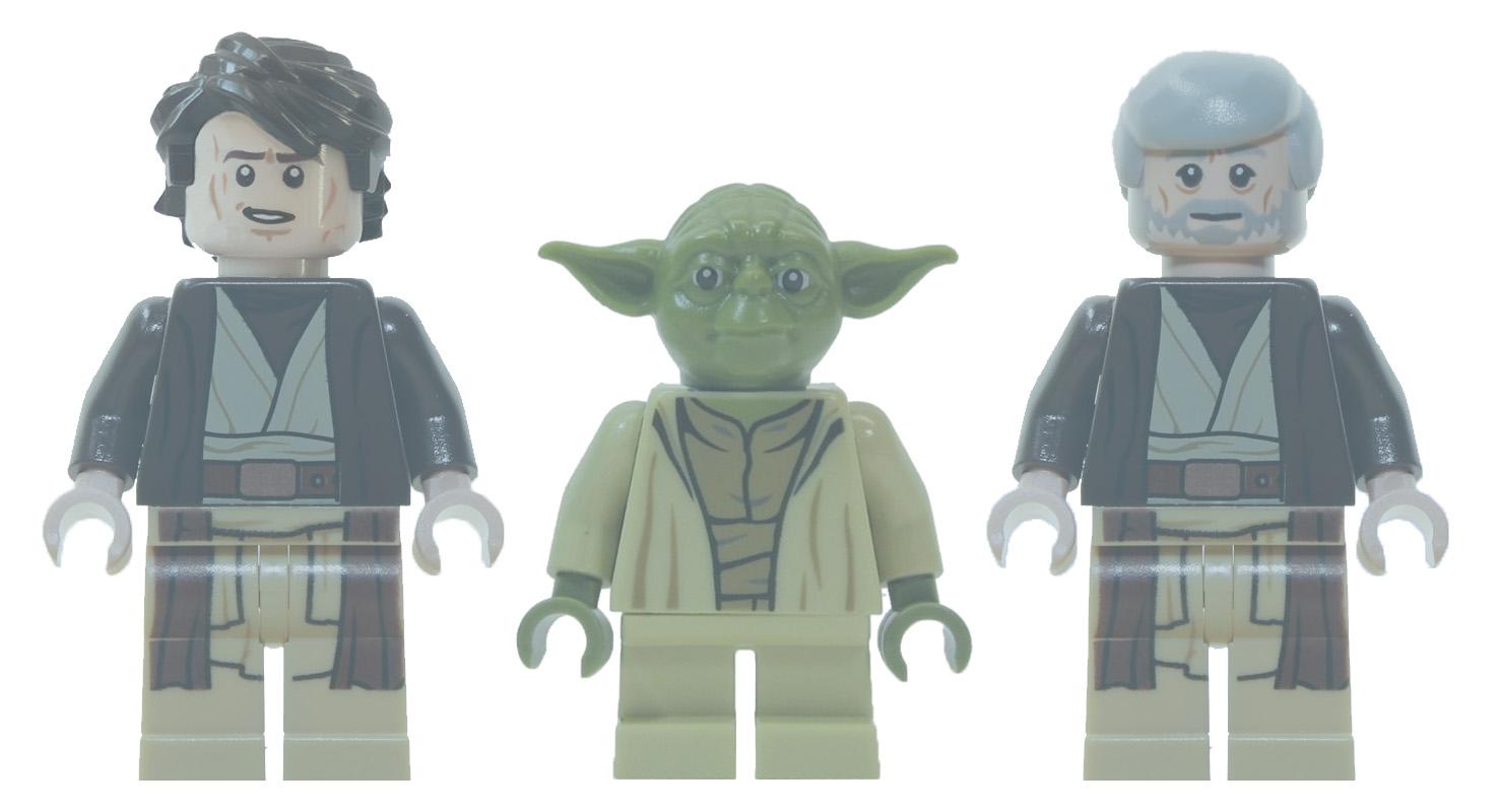 Custom anakin yoda and obi wan ghosts brickipedia - Lego star wars vaisseau anakin ...
