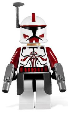 2 Lego Star Wars Trooper Minifigure Helmet Rangefinder Dark Red NEW
