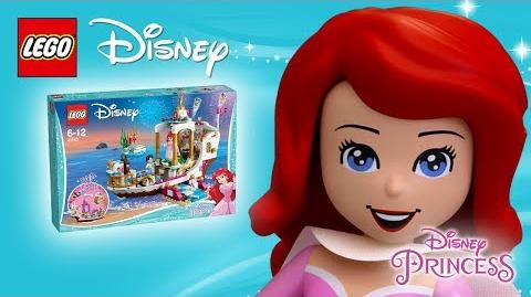 Ariel's Royal Celebration Boat - Product Spin - LEGO Disney 41153