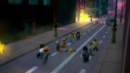 Constrictai tribe help the Citizens of Ninjago City