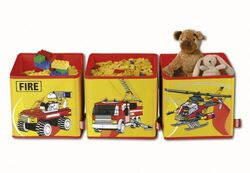 SD471yellow Connectable Toy Bins Yellow Fire