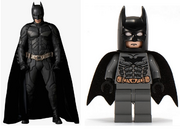 The Dark Knight film suit as adapted into LEGO minifigure form