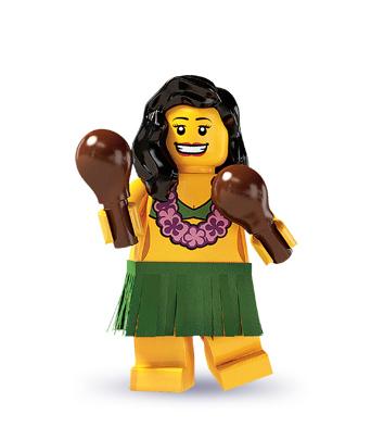 Hula Dancer 8803 Collectible Minifigure Girl Hawaiian Maracas LEGO Series 3