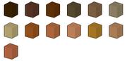 Brown Colour Chart