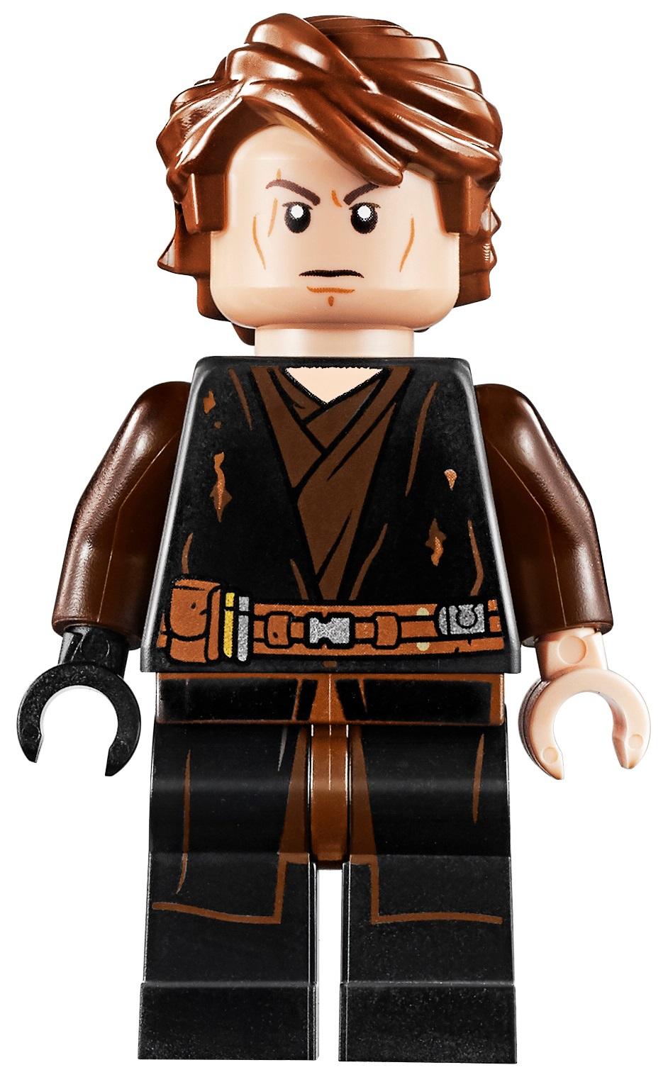 Lego Kylo Ren Minifig Lightsaber x 1 Trans Red with Dark Brown Hilt