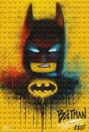 The LEGO Batman Movie Poster graffiti Batman