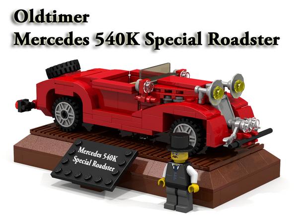 Mercedes 540K SP Roadster - red - Cover