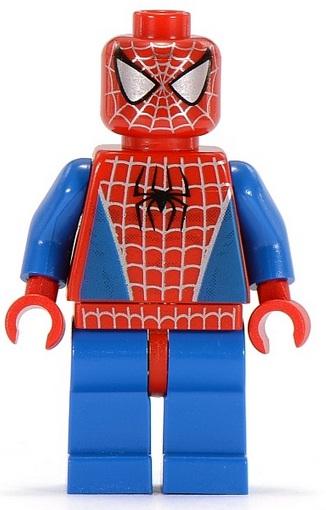 SPIDERMAN MINI FIGURE LEGO 4853 Red Torso w// Black Legs Jewel Thief 1