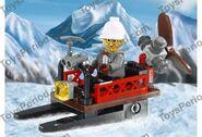 Mountain sleigh artwork
