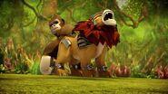 Gorille et lion légendaires-Contes du Royaume oublié