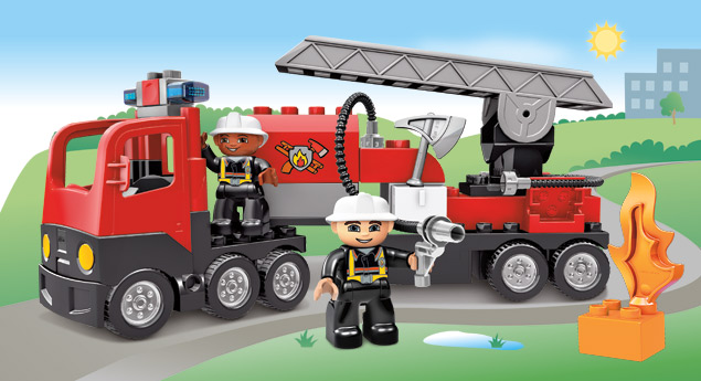 4977 le camion des pompiers wiki lego fandom powered by wikia. Black Bedroom Furniture Sets. Home Design Ideas