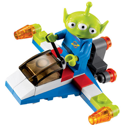 30070 green alien on spaceship brickipedia fandom - Lego toys story ...