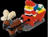 40010 Ensemble de construction Père Noël avec traîneau