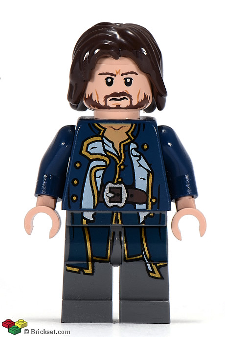 LEGO NEW CAPTAIN JACK SPARROW MINIFIGURE TORSO WITH FLESH HANDS