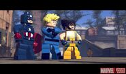LEGO Marvel Super Heroes Captain America Torche Wolverine