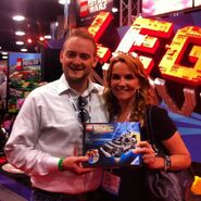 Tim Courtney et Lea Thompson SDCC 2013