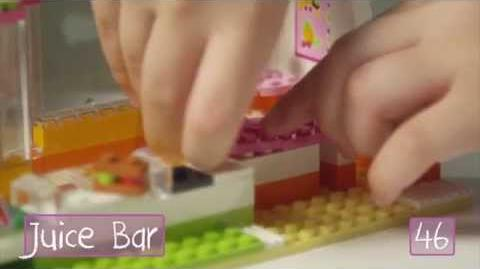 """LEGO Building with Friends - """"How To"""" Heartlake Juice Bar"""