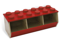 60021-Lego Stacking Bin (Red)